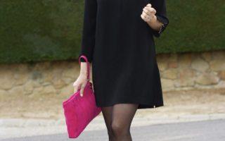 Какие колготки надеть под черное платье